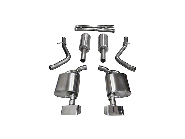 Corsa Xtreme Cat-Back Exhaust with Polished Rectangular Tips (15-16 5.7L HEMI)
