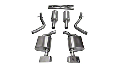 Corsa Xtreme Cat-Back Exhaust w/ Polished Rectangular Tips (15-16 5.7L HEMI)