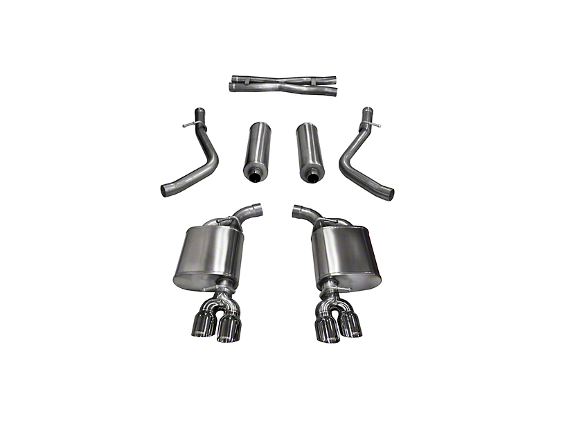 Corsa Xtreme Cat-Back Exhaust with Twin Polished Round Tips (15-16 5.7L HEMI)