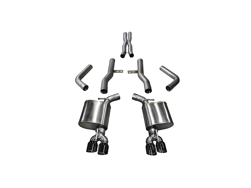 Corsa Xtreme Cat-Back Exhaust w/ Twin Black Round Tips (15-19 6.2L HEMI)