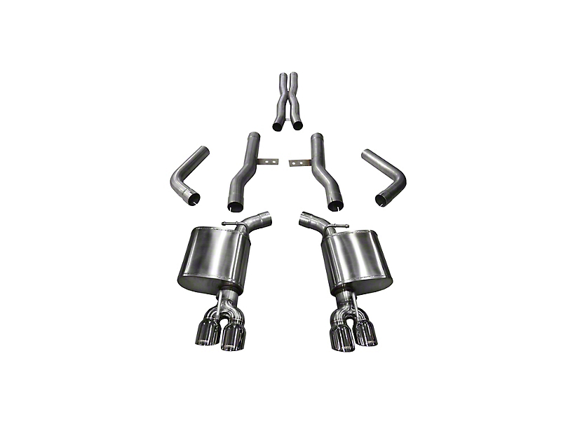 Corsa Xtreme Cat-Back Exhaust w/ Twin Polished Round Tips (15-19 Hellcat)