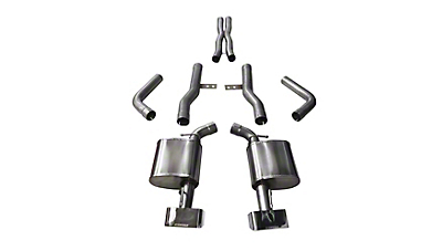 Corsa Xtreme Cat-Back Exhaust w/ Polished Rectangular Tips (15-19 6.4L HEMI)