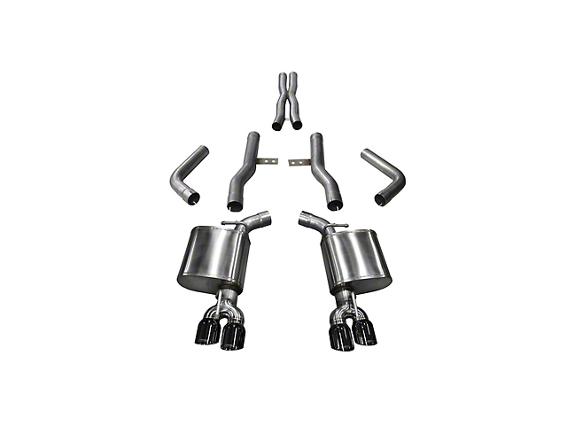 Corsa Xtreme Cat-Back Exhaust with Twin Black Round Tips (15-20 6.4L HEMI)