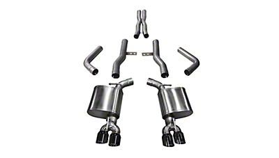 Corsa Xtreme Cat-Back Exhaust w/ Twin Black Round Tips (15-19 6.4L HEMI)