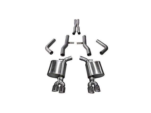 Corsa Xtreme Cat-Back Exhaust with Twin Polished Round Tips (15-20 6.4L HEMI)