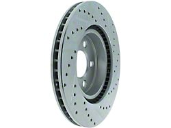 StopTech Select Sport Drilled and Slotted Rotor; Front Passenger Side (06-14 V6 RWD w/ Solid Rear Disc Brakes; 15-21 RWD V6)