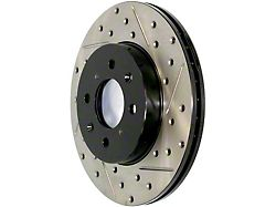 StopTech Sport Drilled and Slotted Rotor; Front Driver Side (06-14 SRT8; 15-16 6.4L HEMI w/ 4-Piston Front Calipers)