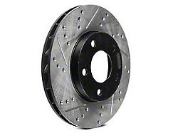 StopTech Sport Drilled and Slotted Rotor; Rear Driver Side (06-14 V6 RWD w/ Solid Rear Rotors; 15-16 V6 RWD)