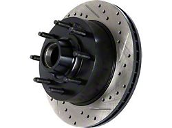 StopTech Sportstop Cryo Drilled and Slotted Rotor; Front Driver Side (08-16 6.1L HEMI, 6.4L HEMI)