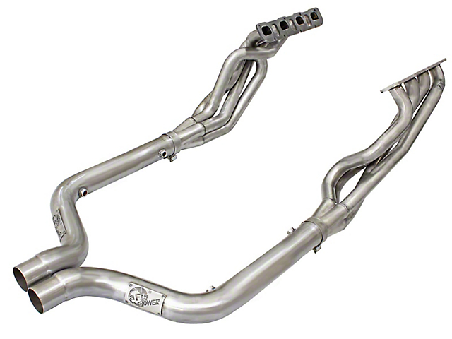 AFE 1-7/8 in. Twisted Steel Long Tube Headers & Off-Road Mid-Pipe - Race Series (15-19 6.2L HEMI, 6.4L HEMI)
