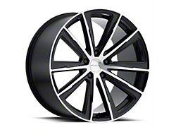 Vision Wheel 471 Splinter Gloss Black Machined Wheel; 20x9 (08-21 All, Excluding AWD, Demon & Hellcat)