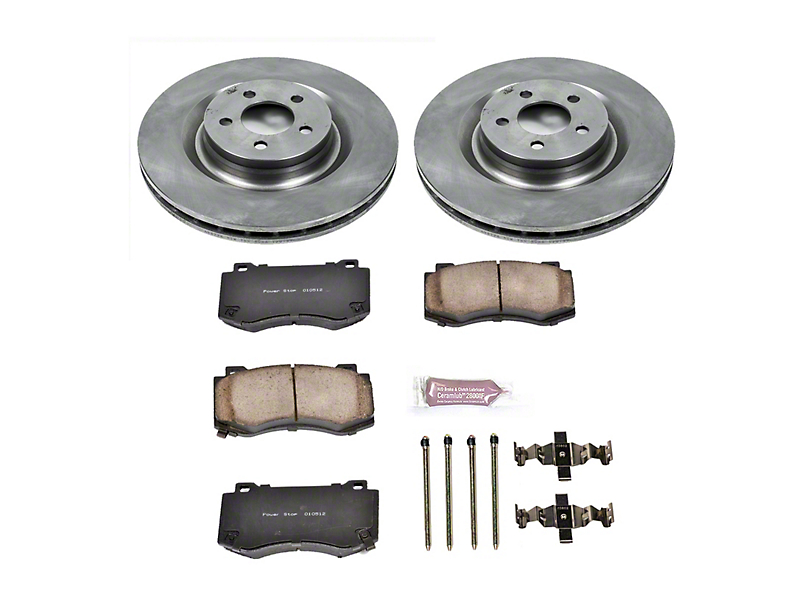 Power Stop OE Replacement Brake Rotor and Pad Kit; Front (08-14 SRT8; 15-16 Scat Pack; 2017 R/T 392; 18-20 w/ 4-Piston Front Calipers)