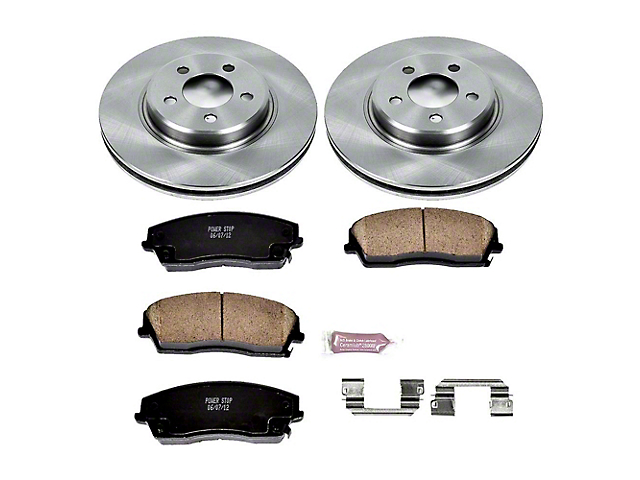 Power Stop OE Replacement Brake Rotor and Pad Kit; Front (09-10 SE; 11-20 SE, SXT w/ Single Piston Front Calipers)