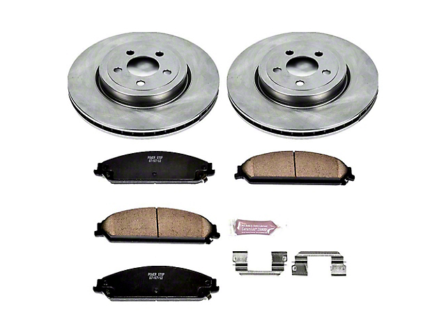 Power Stop OE Replacement Brake Rotor and Pad Kit; Front (09-20 GT, R/T, T/A; 11-20 SE, SXT w/ Dual Piston Front Calipers)
