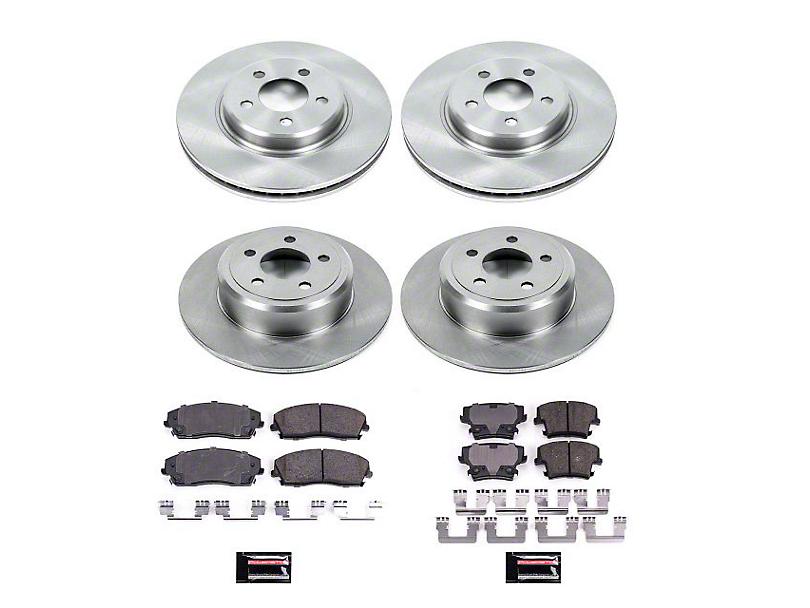 Power Stop OE Replacement Brake Rotor & Pad Kit - Front & Rear (09-10 SE; 11-20 SE, SXT w/ Single Piston Front Calipers)