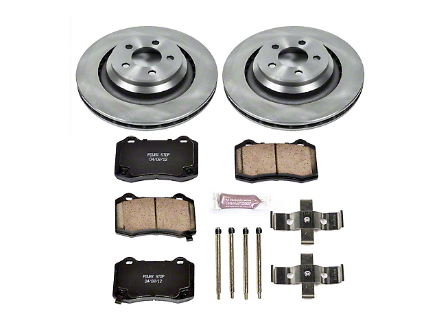 Power Stop OE Replacement Brake Rotor and Pad Kit; Rear (08-14 SRT8; 15-21 Demon, Hellcat, R/T 392, Scat Pack, SRT 392)