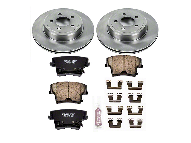 Power Stop OE Replacement Brake Rotor & Pad Kit - Rear (09-20 GT, R/T, T/A; 11-20 SE, SXT w/ Dual Piston Front Calipers)