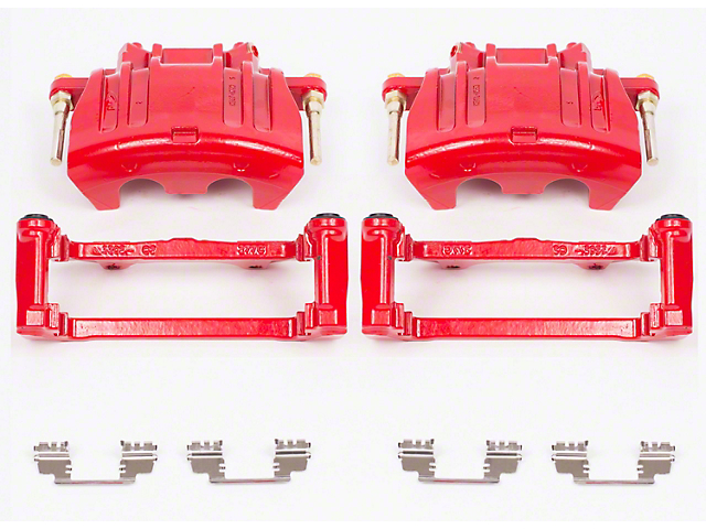 Power Stop Performance Front Brake Calipers; Red (09-11 R/T; 2011 SE w/ Dual Piston Front Calipers)