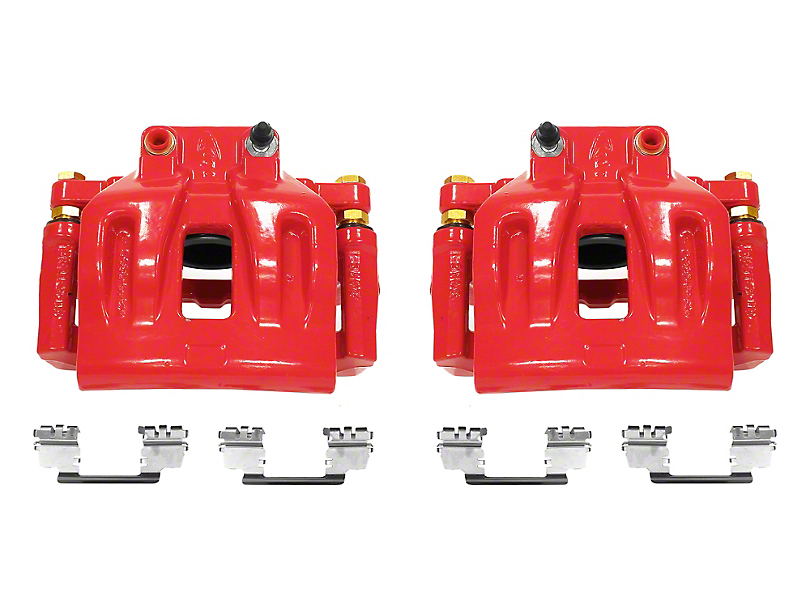 Power Stop Performance Front Brake Calipers - Red (12-19 SXT w/ Single Piston Front Calipers)