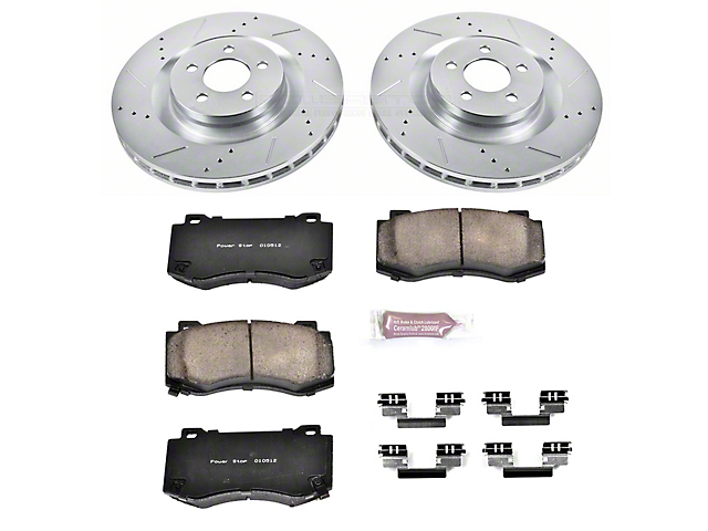Power Stop Z23 Evolution Sport Brake Rotor and Pad Kit; Front (08-14 SRT8; 15-16 Scat Pack; 2017 R/T 392; 18-20 w/ 4-Piston Front Calipers)