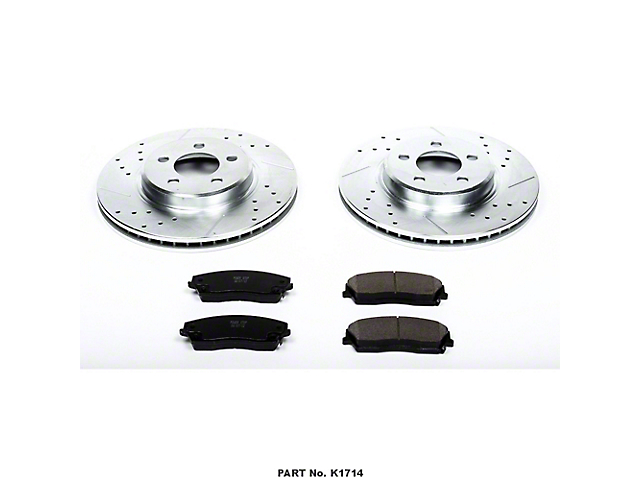 Power Stop Z23 Evolution Sport Brake Rotor and Pad Kit; Front (09-10 SE; 11-20 SE, SXT w/ Single Piston Front Calipers)