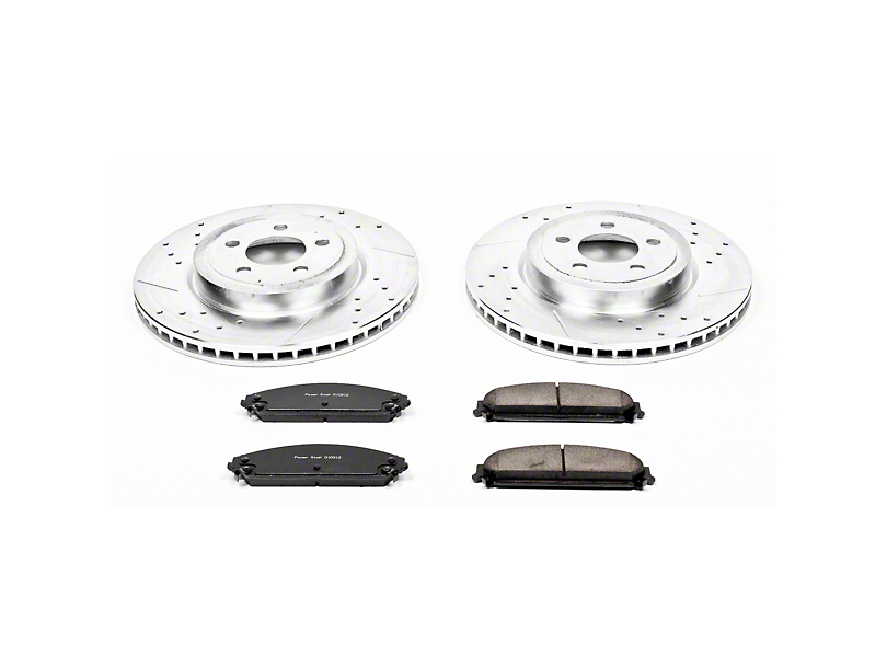 Power Stop Z23 Evolution Sport Brake Rotor & Pad Kit - Front (09-20 GT, R/T, T/A; 11-20 SE, SXT w/ Dual Piston Front Calipers)