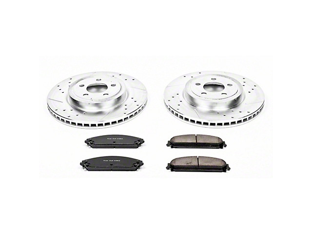 Power Stop Z23 Evolution Sport Brake Rotor and Pad Kit; Front (09-20 GT, R/T, T/A; 11-20 SE, SXT w/ Dual Piston Front Calipers)