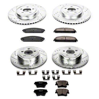 Power Stop Z23 Evolution Sport Brake Rotor & Pad Kit - Front & Rear (09-19 R/T; 11-19 SE, SXT w/ Dual Piston Front Calipers)