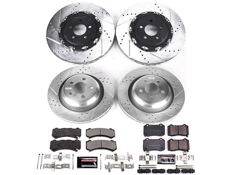 Power Stop Z23 Evolution Sport Brake Rotor & Pad Kit - Front & Rear (15-20 SRT 392, Hellcat)