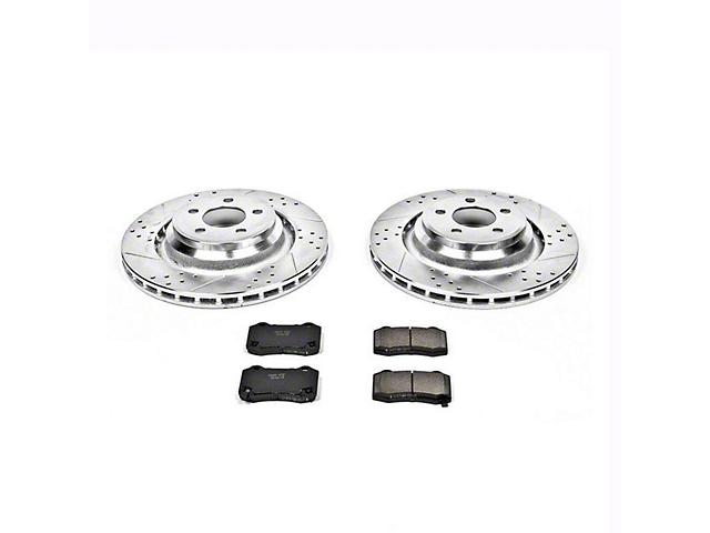 Power Stop Z23 Evolution Sport Brake Rotor and Pad Kit; Rear (08-14 SRT8; 15-20 Demon, Hellcat, Scat Pack, SRT 392)