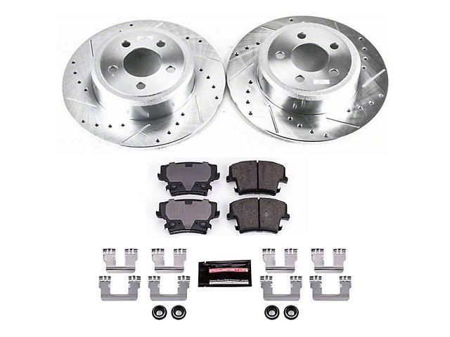Power Stop Z23 Evolution Sport Brake Rotor & Pad Kit - Rear (09-10 SE; 11-20 SE, SXT w/ Single Piston Front Calipers)