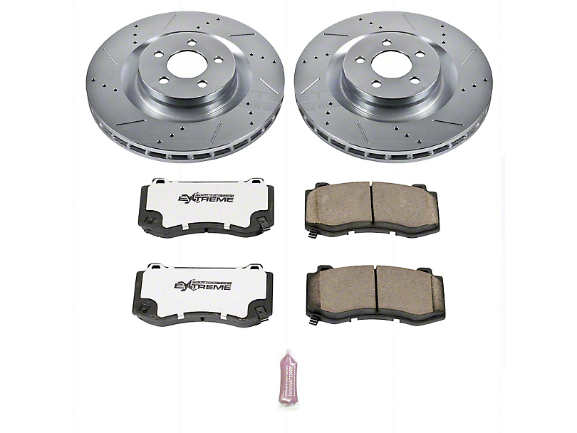 Power Stop Z26 Street Warrior Brake Rotor & Pad Kit - Front (08-14 SRT8; 15-16 Scat Pack; 2017 R/T 392; 18-20 w/ 4-Piston Front Calipers)