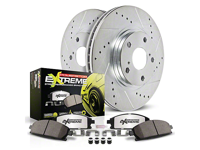 Power Stop Z26 Street Warrior Brake Rotor and Pad Kit; Front (15-20 SRT 392, Hellcat)