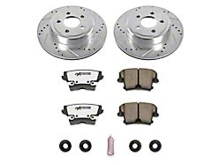 Power Stop Z26 Street Warrior Brake Rotor and Pad Kit; Rear (09-20 GT, R/T, T/A; 11-20 SE, SXT w/ Dual Piston Front Calipers)