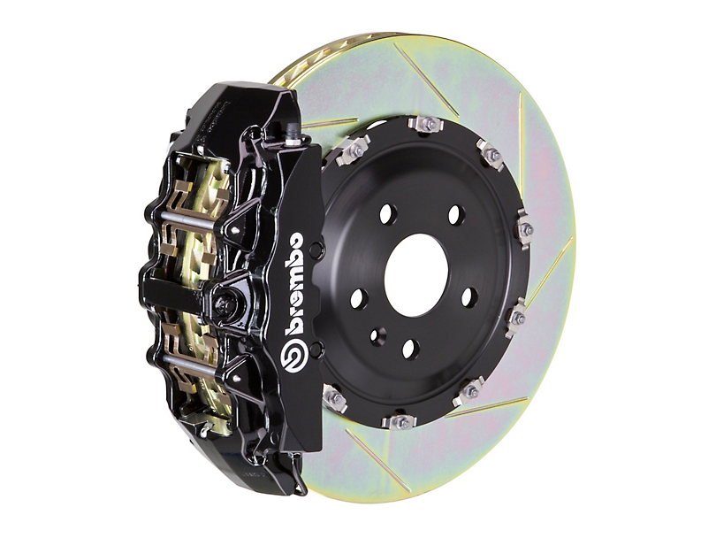 Brembo GT Series 8-Piston Front Big Brake Kit w/ 15 in. 2-Piece Slotted Rotors - Black Calipers (08-14 SRT8)