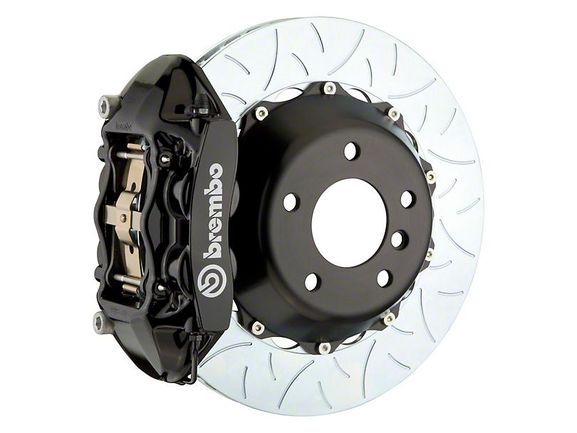 Brembo GT Series 4-Piston Rear Big Brake Kit w/ 15 in. 2-Piece Type 3 Slotted Rotors - Black Calipers (08-14 SRT8)