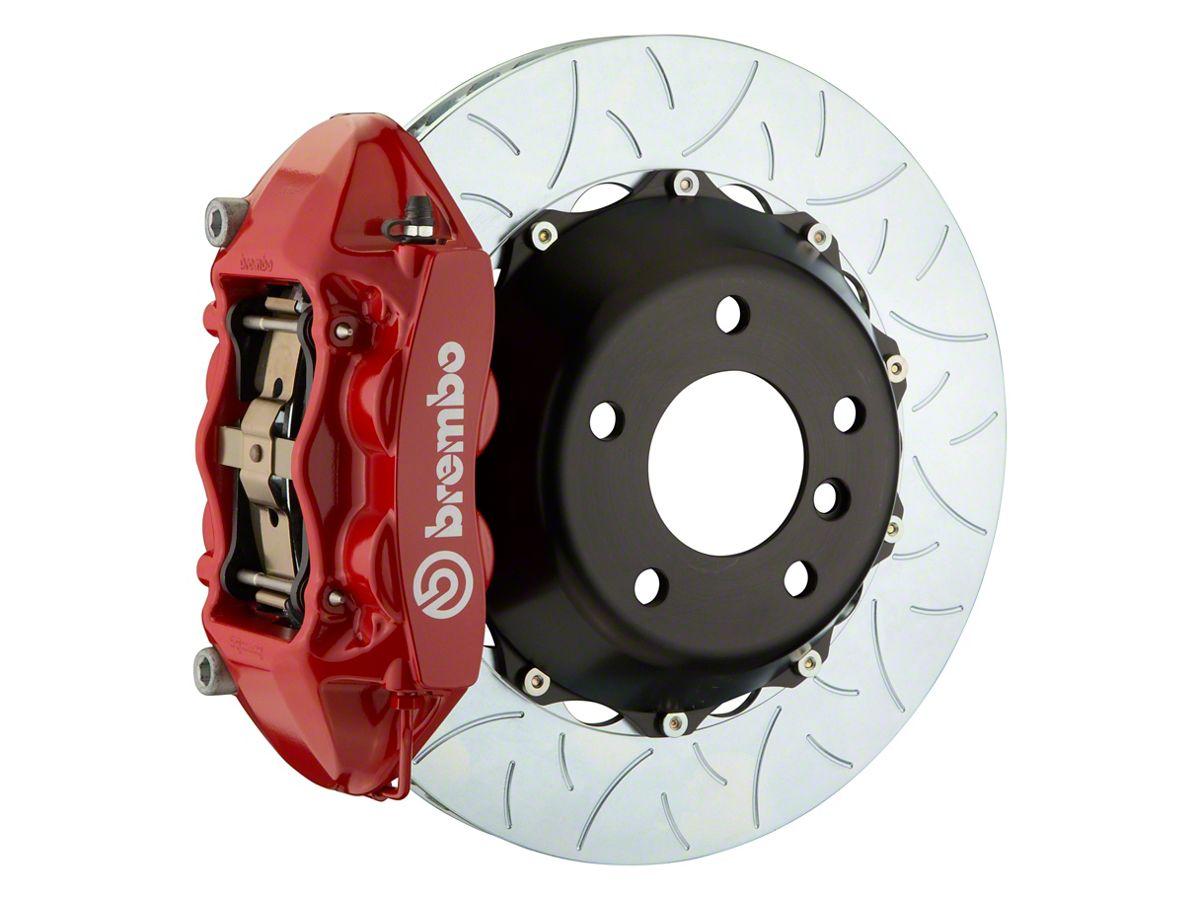 Brembo Brake Kit >> Brembo Gt Series 4 Piston Rear Big Brake Kit W 15 In 2 Piece Type 3 Slotted Rotors Red Calipers 08 14 Srt8