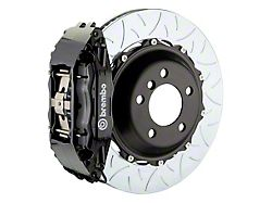 Brembo GT Series 4-Piston Front Big Brake Kit with 14-Inch 2-Piece Type 3 Slotted Rotors; Black Calipers (06-10 All, Excluding AWD & SRT8)