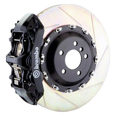 Brembo Challenger Gt Series 6 Piston Front Big Brake Kit 14 In 2 Piece Slotted Rotors Black 1m2 8027a1k 09 10 R T Se