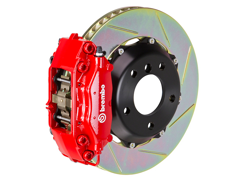Brembo GT Series 4-Piston Rear Big Brake Kit w/ 13.6 in. 2-Piece Slotted Rotors - Red Calipers (09-10 R/T, SE)