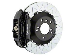 Brembo GT Series 4-Piston Rear Big Brake Kit with 13.60-Inch 2-Piece Type 3 Slotted Rotors; Black Calipers (06-21 All, Excluding 392, Scat Pack, SRT8 & Super Bee)