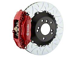 Brembo GT Series 4-Piston Rear Big Brake Kit with 13.60-Inch 2-Piece Type 3 Slotted Rotors; Red Calipers (06-21 All, Excluding 392, Scat Pack, SRT8 & Super Bee)