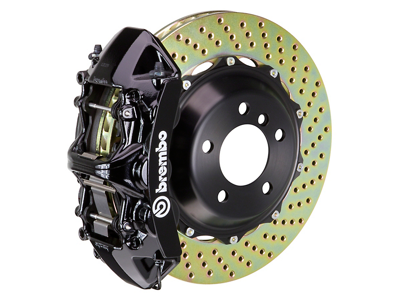 Brembo GT Series 6-Piston Front Big Brake Kit w/ 14 in. 2-Piece Cross-Drilled Rotors - Black Calipers (11-20 All, Excluding SRT8)