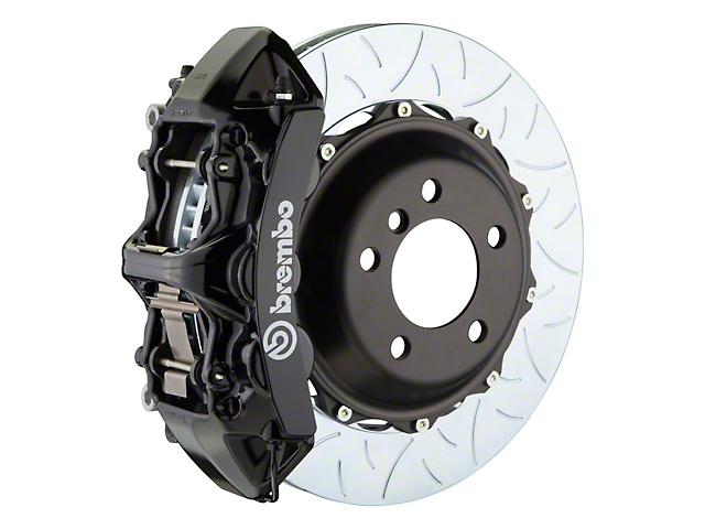 Brembo GT Series 6-Piston Front Big Brake Kit with 14-Inch 2-Piece Type 3 Slotted Rotors; Black Calipers (11-20 All, Excluding 392, Scat Pack & SRT8)