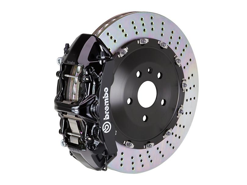 Brembo GT Series 6-Piston Front Big Brake Kit w/ 15 in. 2-Piece Slotted Rotors - Black Calipers (11-20 V8 HEMI, Excluding SRT8)