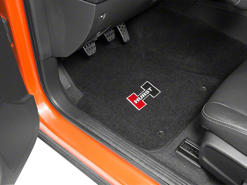 Hurst Front & Rear Floor Mats w/ Red Hurst Logo - Black (08-19 All)