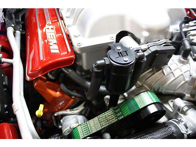 JLT 3.0 Black Oil Separator; Passenger Side (15-21 Demon, Hellcat)