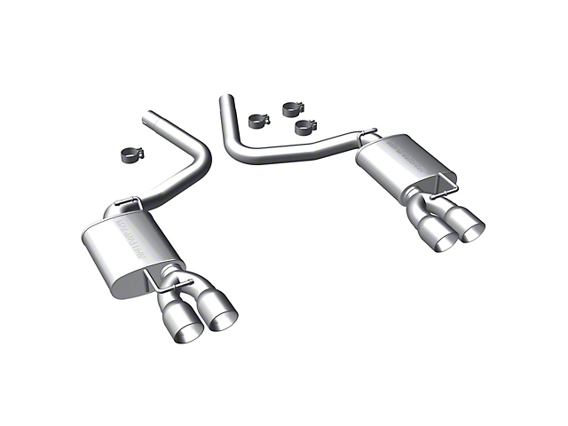Magnaflow Street Series Axle-Back Exhaust with Quad Round Tips (09-14 5.7L HEMI)