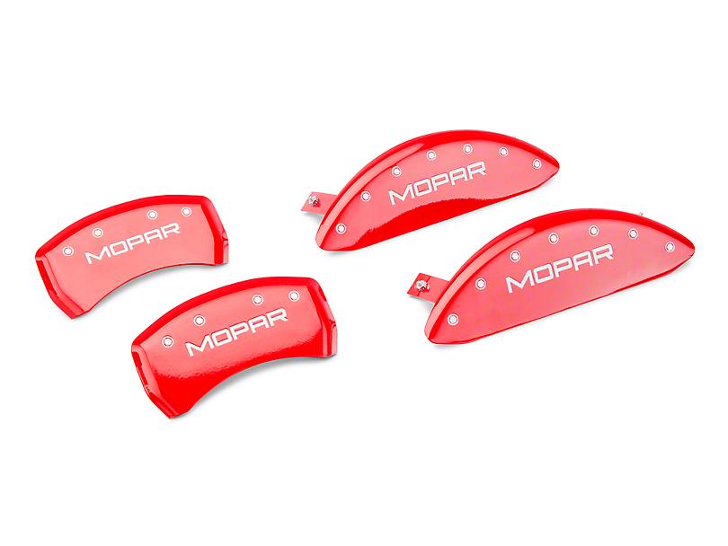 MGP Red Caliper Covers w/ MOPAR Logo - Front & Rear (11-20 R/T; 2014 Rallye Redline; 17-20 GT, T/A; 12-20 SXT w/ Dual Piston Front Caliper)