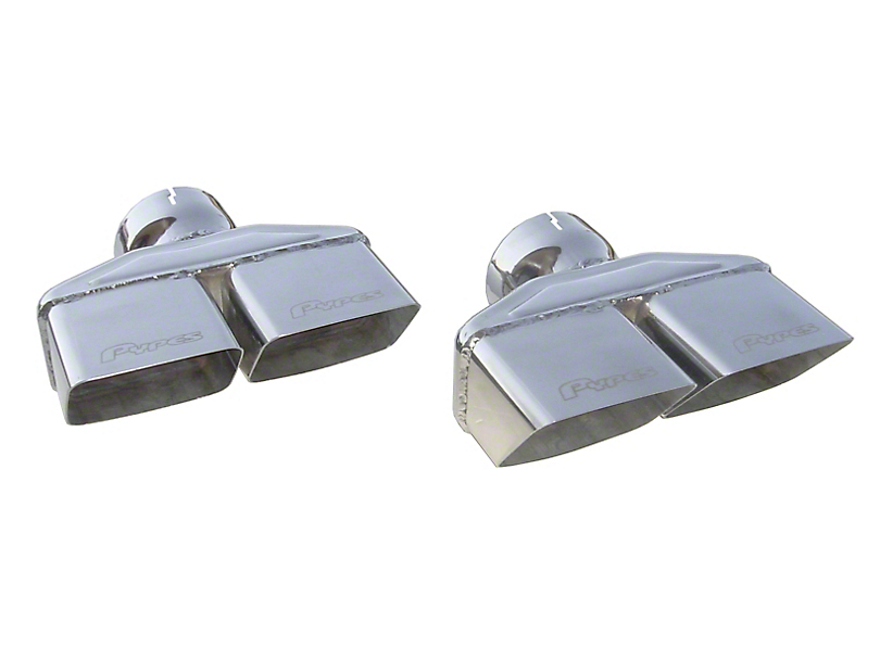 Pypes 3 in. Polished Dual Rectangle Exhaust Tips (08-14 All)